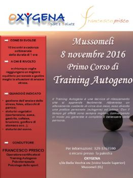 Primo corso di Training Autogeno a Mussomeli